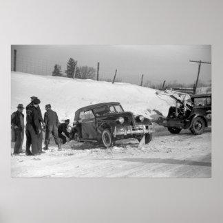 Het klassieke Wrak van de Auto, 1940 Poster