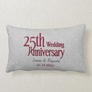 Het klassieke Zilveren Jubileum van het Huwelijk Lumbar Kussen