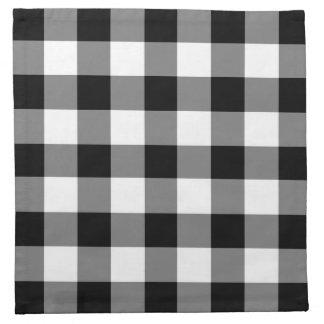 Het klassieke Zwart-witte Gecontroleerde Patroon Katoenen Servet