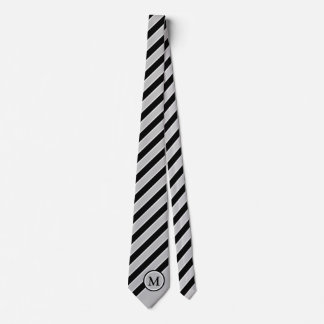 Het klassieke Zwarte Zilveren Grijze Aanvankelijke Persoonlijke Stropdas