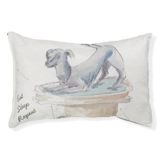 """Het kleine BinnenBed van de Hond """"eet Slaap Hondenbedden"""