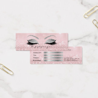 Het kleine Roze van het Certificaat van de Gift Mini Visitekaartjes