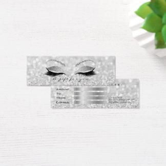 Het kleine Zilver van het Certificaat van de Gift Mini Visitekaartjes