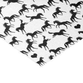 Het kleine Zwarte Papieren zakdoekje van Paarden Tissuepapier