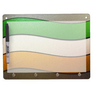 Het kleur-Chroom van de Vlag van Ierland door Whiteboard Met Sleutelhanger