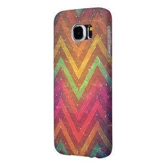 Het kleurrijke Abstracte Hoesje Achtergrond van Samsung Galaxy S6 Hoesje