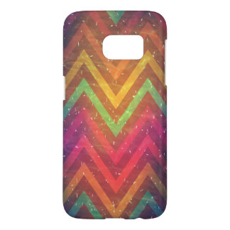 Het kleurrijke Abstracte Hoesje Achtergrond van Samsung Galaxy S7 Hoesje