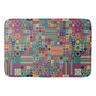Het kleurrijke abstracte ontwerp van het badmatten