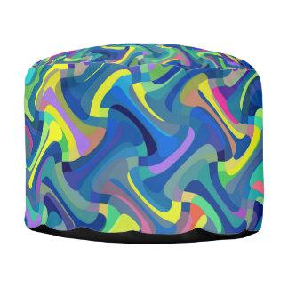 Het kleurrijke Abstracte Patroon van de Textuur Poef