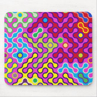 Het kleurrijke Abstracte Psychedelische Patroon Muismatten
