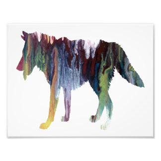 Het kleurrijke abstracte silhouet van de Wolf Foto