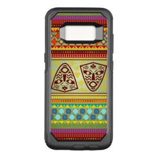 Het kleurrijke Afrikaanse Patroon van Kente van de OtterBox Commuter Samsung Galaxy S8 Hoesje
