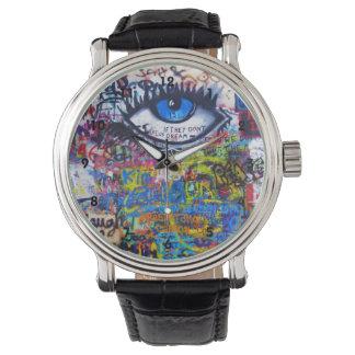 Het kleurrijke art. van de graffitistraat horloge