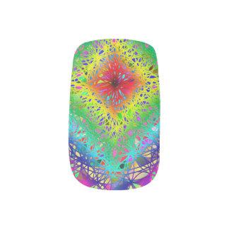 Het kleurrijke Art. van de Spijker van het Kristal Minx Nail Art