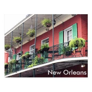 Het kleurrijke Balkon van het Kwart van New Briefkaart