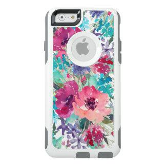 Het kleurrijke BloemenPatroon van de Waterverf OtterBox iPhone 6/6s Hoesje