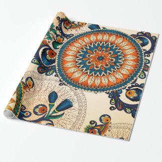 Het kleurrijke Boheemse Boho Elegante Patroon van Cadeaupapier