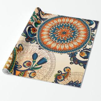 Het kleurrijke Boheemse Boho Elegante Patroon van Inpakpapier