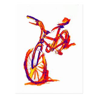 Het kleurrijke Design van de Fiets Briefkaart