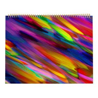 Het Kleurrijke digitale de kunst van de kalender