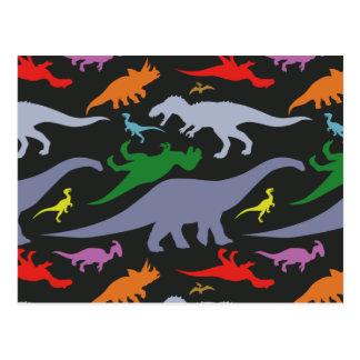 Het kleurrijke (Donkere) Patroon van de Dinosaurus Briefkaart