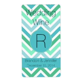 Het kleurrijke Etiket van de Wijn van het Huwelijk