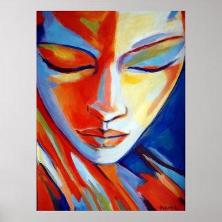 Het kleurrijke Fijne Print van de Kunst - Mooi por