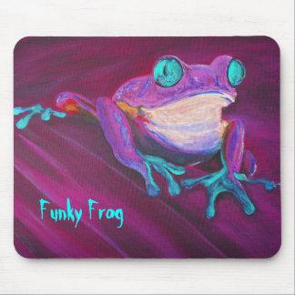 Het kleurrijke funky stootkussen van de kikkermuis muismat