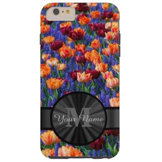 Het kleurrijke gebied van de Tulp met monogram Tough iPhone 6 Plus Hoesje