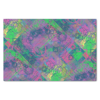 Het kleurrijke Geometrische Papieren zakdoekje van 25,4 X 38,1 Cm Zijdepapier