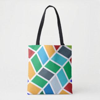 Het kleurrijke Geometrische Patroon van de Stap Draagtas