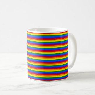 Het kleurrijke Gestreepte Patroon van de Vlag LGBT Koffiemok