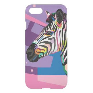 Het kleurrijke Gestreepte Portret van het Pop-art iPhone 8/7 Hoesje
