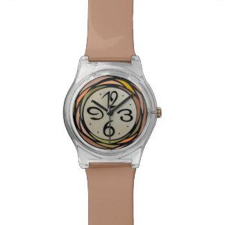 Het kleurrijke Horloge van het Patroon van het Gla