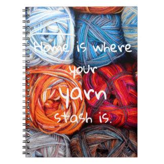 Het kleurrijke Huis is waar uw garengeheime Ringband Notitieboek