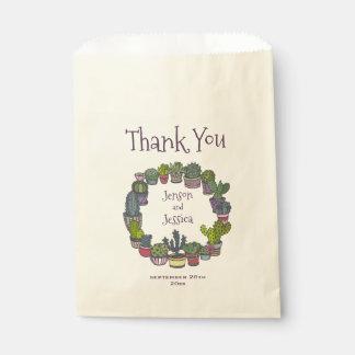 Het kleurrijke Huwelijk van de Cactus dankt u Bedankzakje