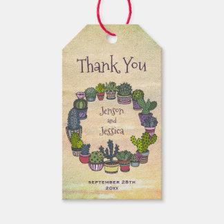 Het kleurrijke Huwelijk van de Cactus dankt u Cadeaulabel