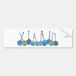 Het kleurrijke Koord van de Banjo Bumpersticker