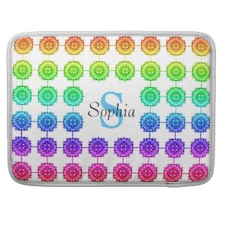 Het kleurrijke Monogram Macbook Pro 15 van het Sleeves Voor MacBooks
