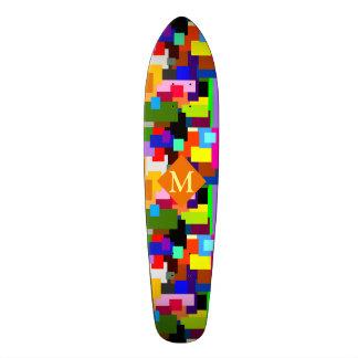 Het kleurrijke Monogram van de Lagen van het 19,7 Cm Skateboard Deck