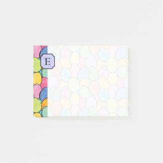 Het kleurrijke Monogram van Paaseieren 4x3 Post-it® Notes