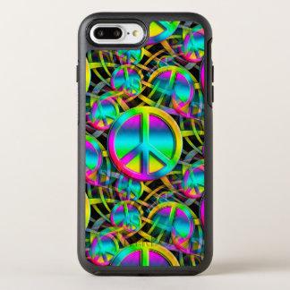 Het kleurrijke naadloze patroon van de VREDE + uw OtterBox Symmetry iPhone 8 Plus / 7 Plus Hoesje