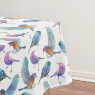 Het kleurrijke Naadloze Patroon van Vogels Tafelkleed