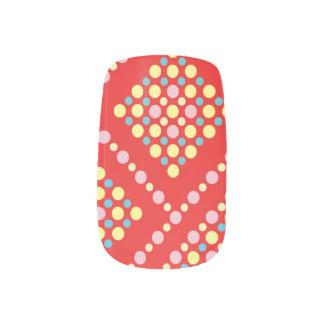 Het kleurrijke Net van de Pop van het Snoep van de Minx Nail Folie
