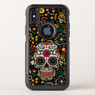 Het kleurrijke Patroon van Bloemen & de OtterBox Commuter iPhone X Hoesje