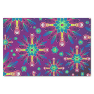 Het kleurrijke patroon van de Bloem Tissuepapier