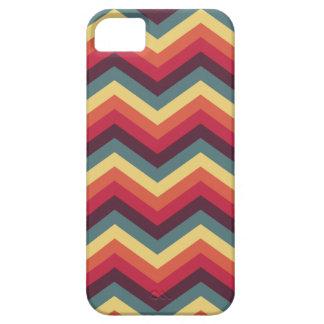 Het kleurrijke Patroon van de Chevron van de Barely There iPhone 5 Hoesje