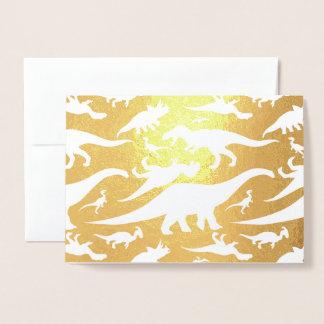 Het kleurrijke Patroon van de Dinosaurus (Licht) Folie Kaarten