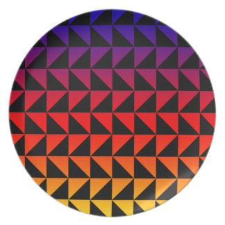 Het kleurrijke Patroon van de Driehoek van de Melamine+bord