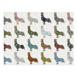 Het kleurrijke Patroon van de Haan Briefkaart